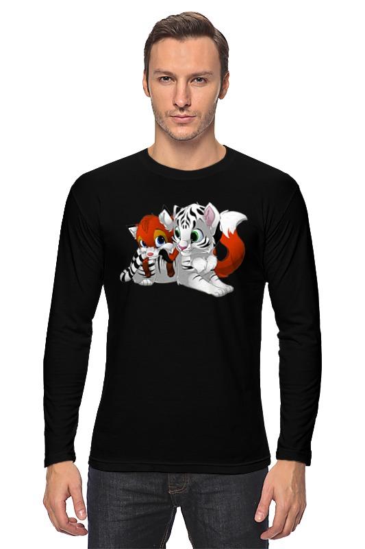 Лонгслив Printio Тигрята покрывало тигрята полухлопок 120х150