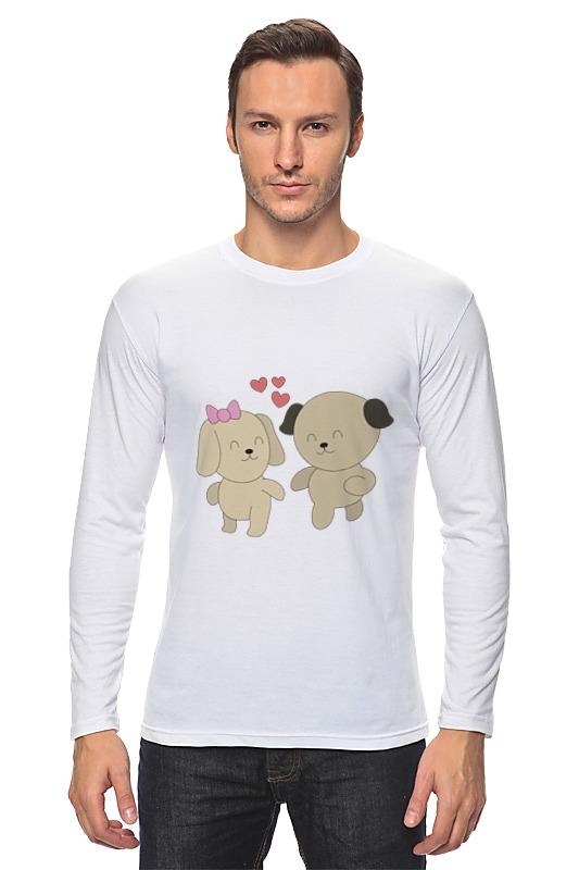 Лонгслив Printio Влюблённые собачки kogankids kogankids лонгслив собачки розовый