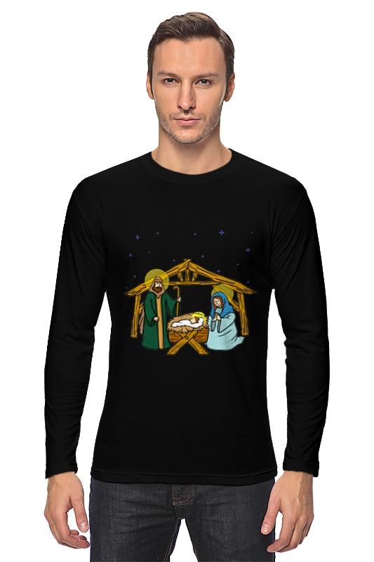 все цены на Лонгслив Printio Рождество христово онлайн