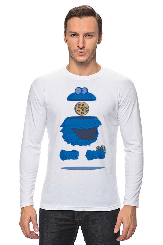 Лонгслив Printio Печеньковое чудовище футболка рингер printio печеньковое чудовище