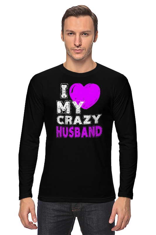 Лонгслив Printio Love my crazy husband футболка классическая printio love my crazy husband