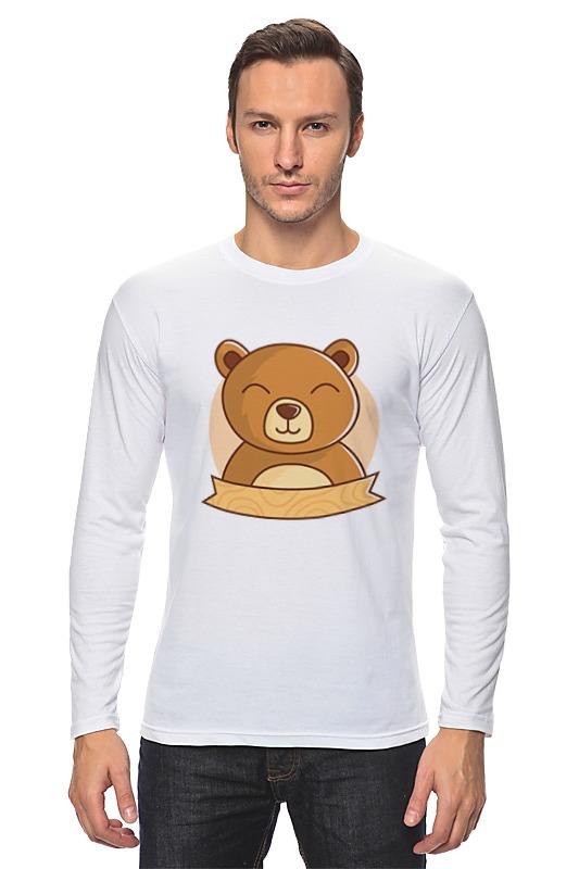 Лонгслив Printio Спящий медвежонок