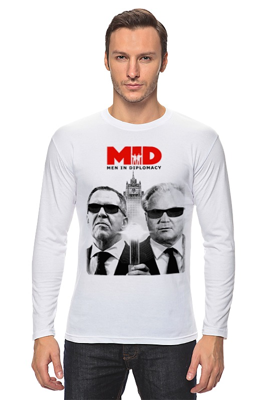 Лонгслив Printio Mid - men in diplomacy футболка рингер printio men in diplomacy