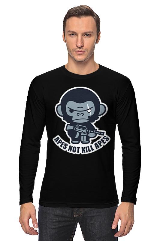 Лонгслив Printio Обезьяны не убивают (планета обезьян) футболка с полной запечаткой для девочек printio планета обезьян planet of the apes