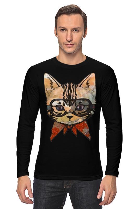 Лонгслив Printio Кот в очках кот в мешке время играть
