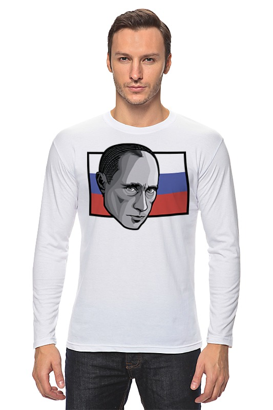 Лонгслив Printio Путин (россия) лонгслив printio россия украина