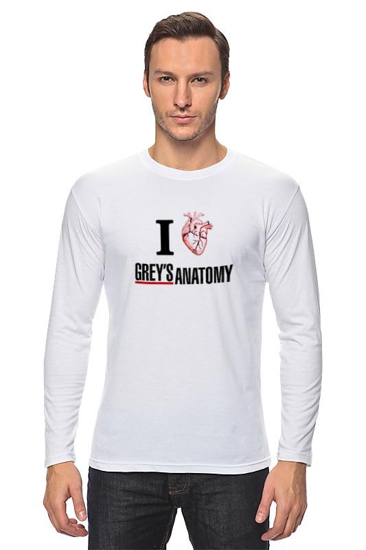 Лонгслив Printio Люблю greys anatomy стоимость