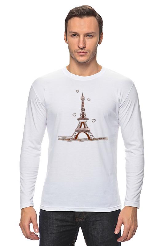 Лонгслив Printio Эйфелева башня пазлы magic pazle объемный 3d пазл эйфелева башня 78x38x35 см