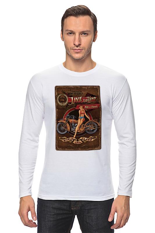 Лонгслив Printio Мотоциклы, винтажный постер. росмэн мотоциклы