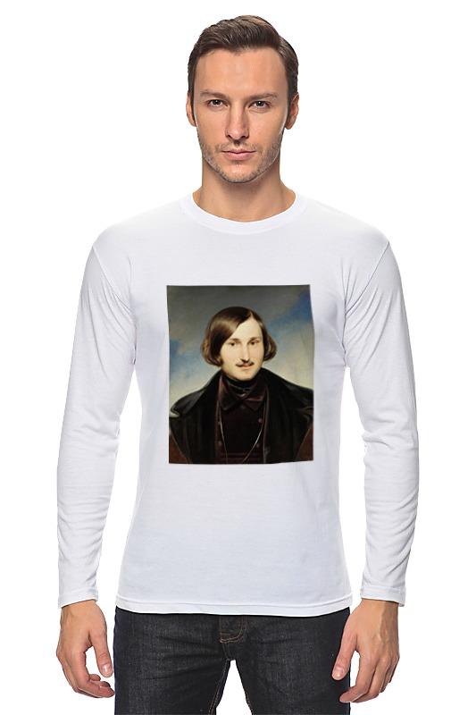 Лонгслив Printio Николай гоголь (портрет работы фёдора моллера) рубашка поло printio николай гоголь портрет работы фёдора моллера