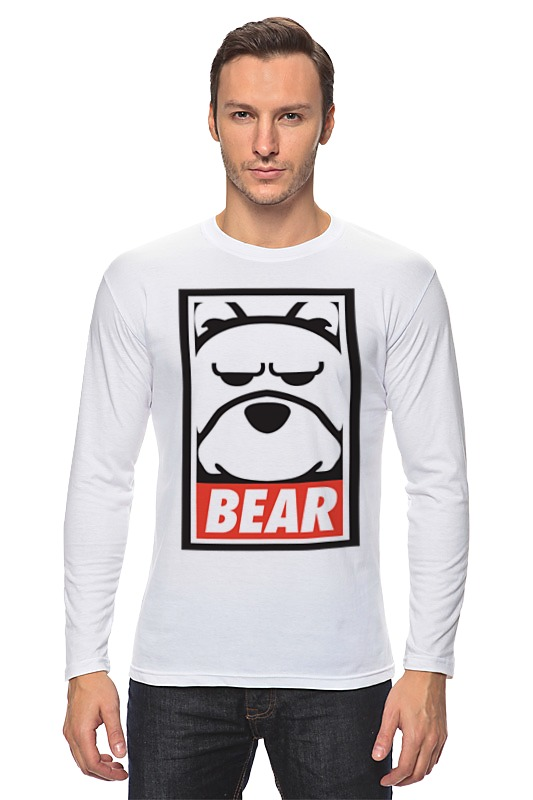 Лонгслив Printio Мишка (bear, obey)