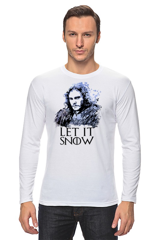 Лонгслив Printio Jon snow из сериала игра престолов (5) 1 6 scale game of thrones jon snow head sculpt with curly long hair model toys for 12 male action figure collections freeshipp