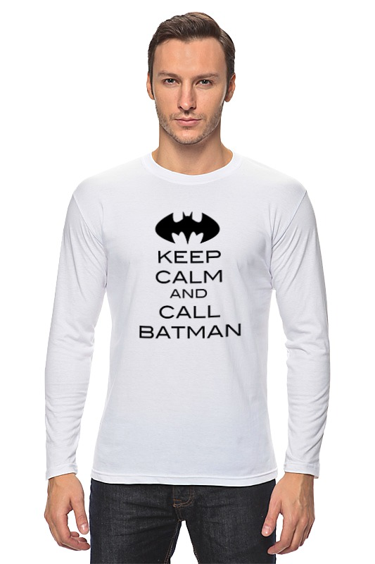 Лонгслив Printio Keep calm and call batman сумка printio keep calm and call batman