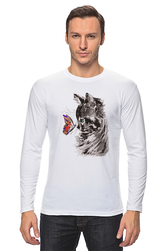Printio Кот и бабочка цена