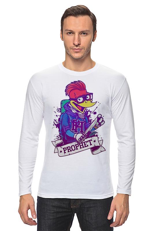 Лонгслив Printio Отмороженный дятел футболка с полной запечаткой мужская printio отмороженный дятел