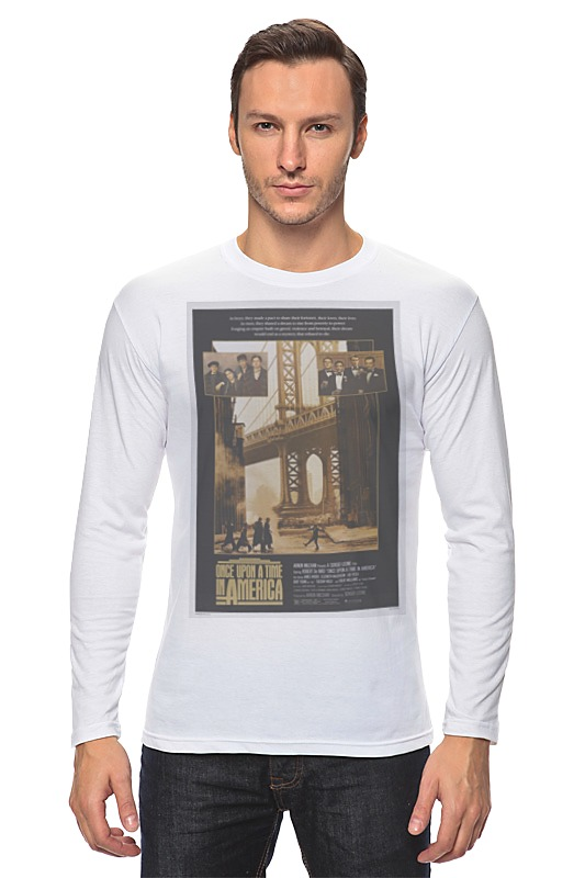 Лонгслив Printio Once upon a time in america / однажды в америке толстовка wearcraft premium унисекс printio once upon a time in america однажды в америке