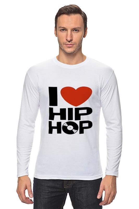 Лонгслив Printio Хип-хоп hpolw mens нержавеющей стали винтаж хип хоп панк скелет готический племенных креста череп кольцо черный серебра