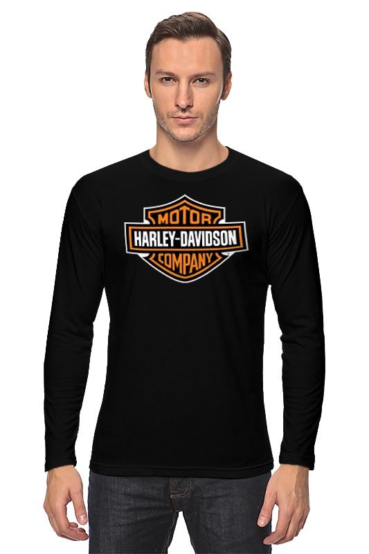 Лонгслив Printio Harley-davidson / харлей aluminum motorcycle brake and clutch handlebars for harley davidson sportster 883 black 2 pcs