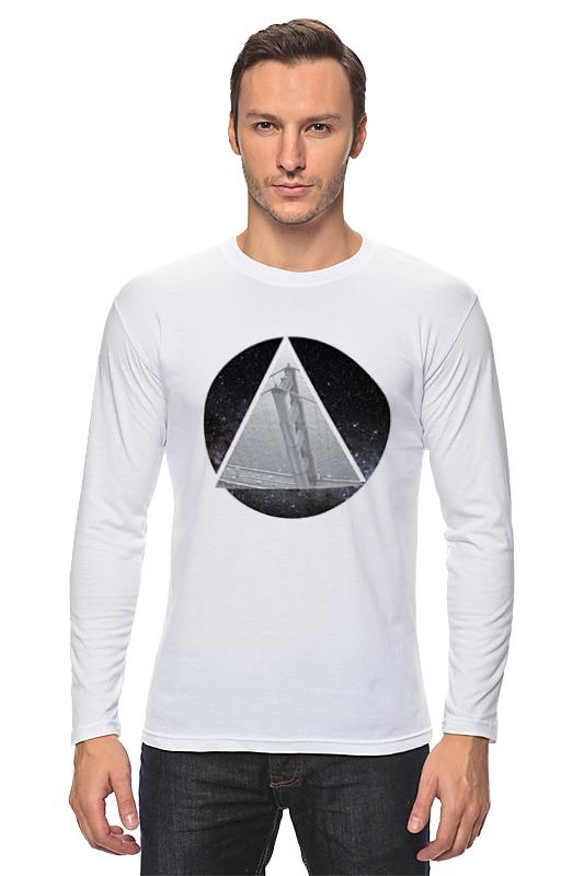 Лонгслив Printio Абстракция треугольник черный треугольник
