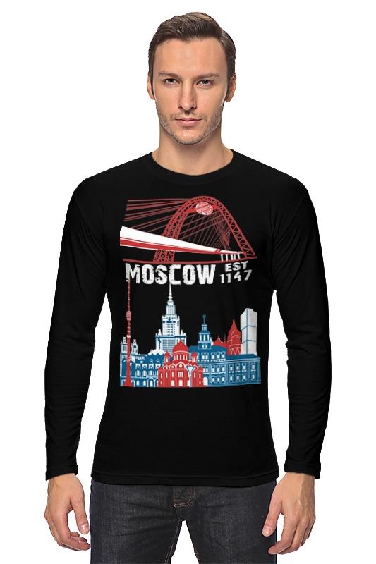 Лонгслив Printio Moscow. established in 1147 лонгслив printio московская область москва