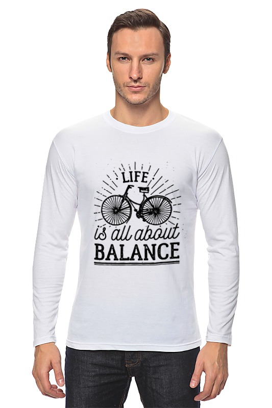 Лонгслив Printio Life is all about balance! all about money