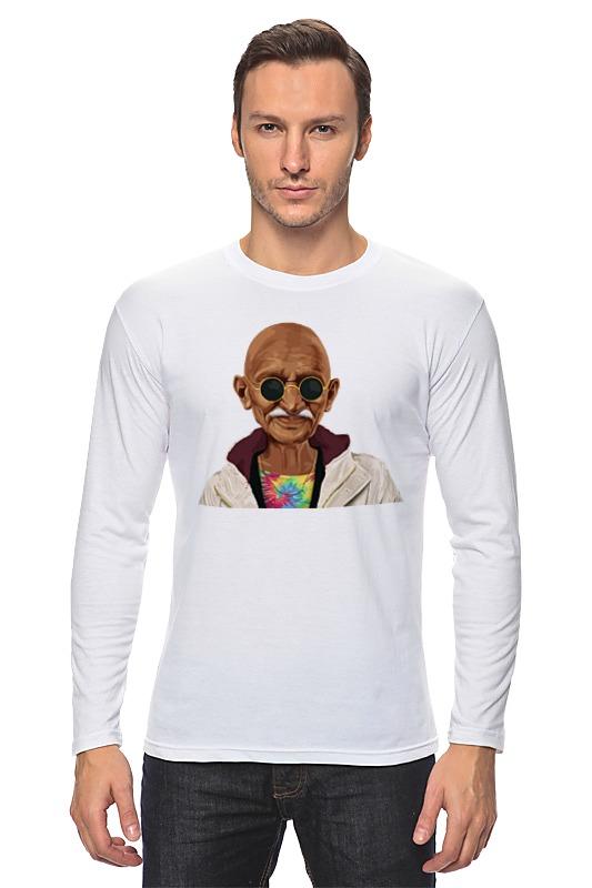 Лонгслив Printio Ганди хипстер футболка классическая printio ганди хипстер