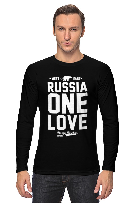 Лонгслив Printio Russia one love by design ministry чехол для iphone 5 глянцевый с полной запечаткой printio russia one love by design ministry