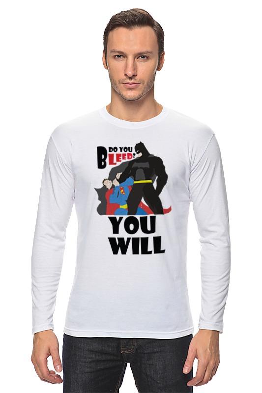Лонгслив Printio Бэтмен и супермен запуск брат супермен бэтмен t рубашки с бэтмен любителей любителей футболку любовь 186