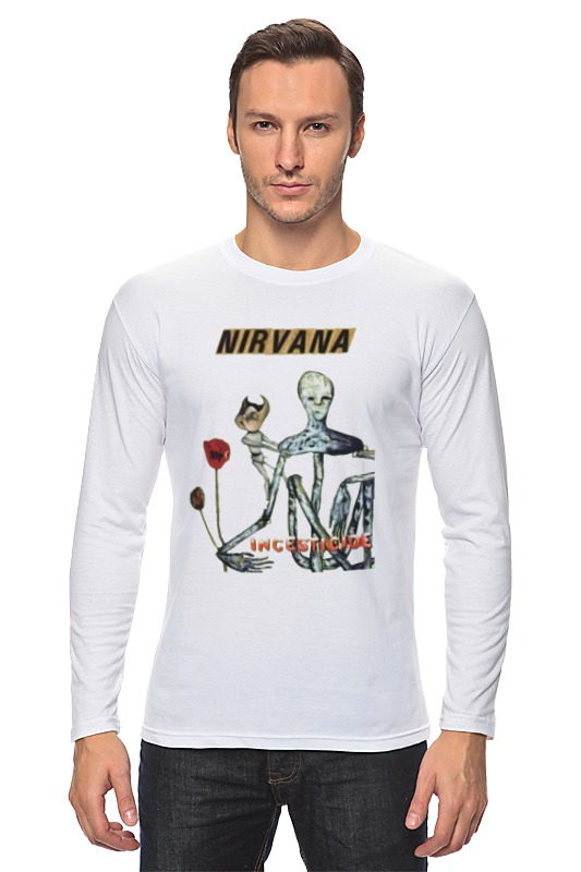 Лонгслив Printio Nirvana incesticide album t-shirt футболка wearcraft premium slim fit printio nirvana incesticide album t shirt
