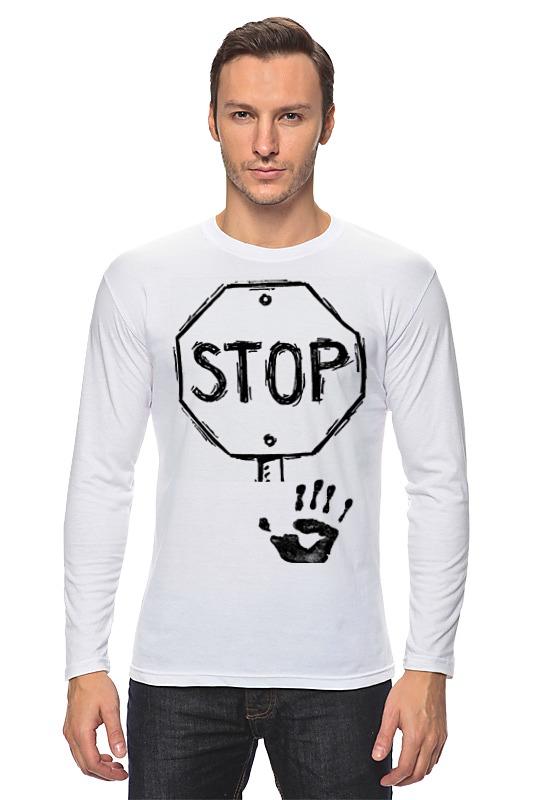 Лонгслив Printio Stop! сумка printio i don t stop