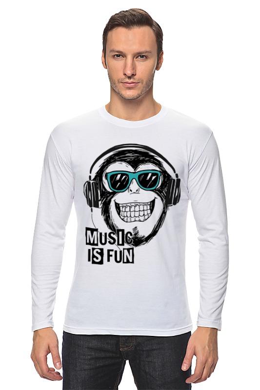где купить Лонгслив Printio Music is fun дешево
