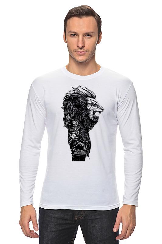 Лонгслив Printio Лев в куртке лонгслив printio мудрый лев