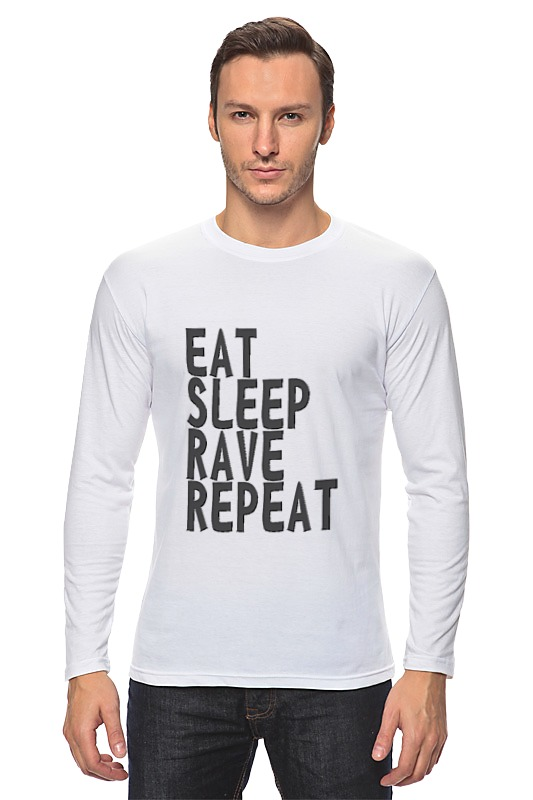 Лонгслив Printio Eat sleep rave repeat лонгслив printio nice to eat you
