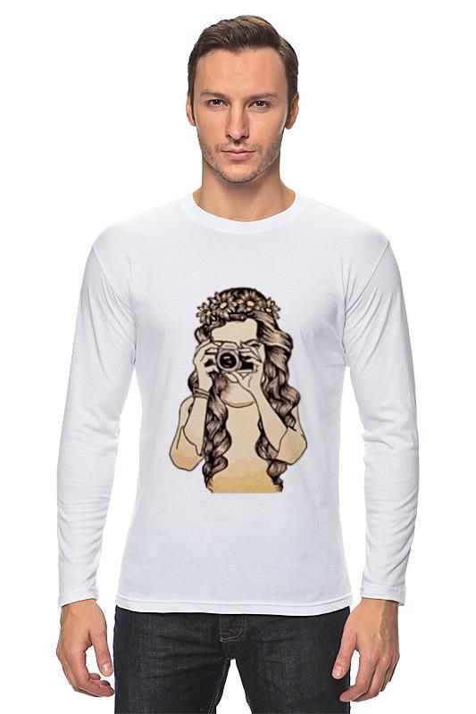 Лонгслив Printio Девушка с камерой футболка классическая printio девушка с камерой