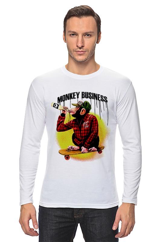 Лонгслив Printio Monkey (обезьяна) лонгслив printio hamlet monkey