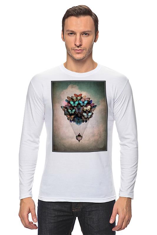 Лонгслив Printio Воздушный шар/бабочки