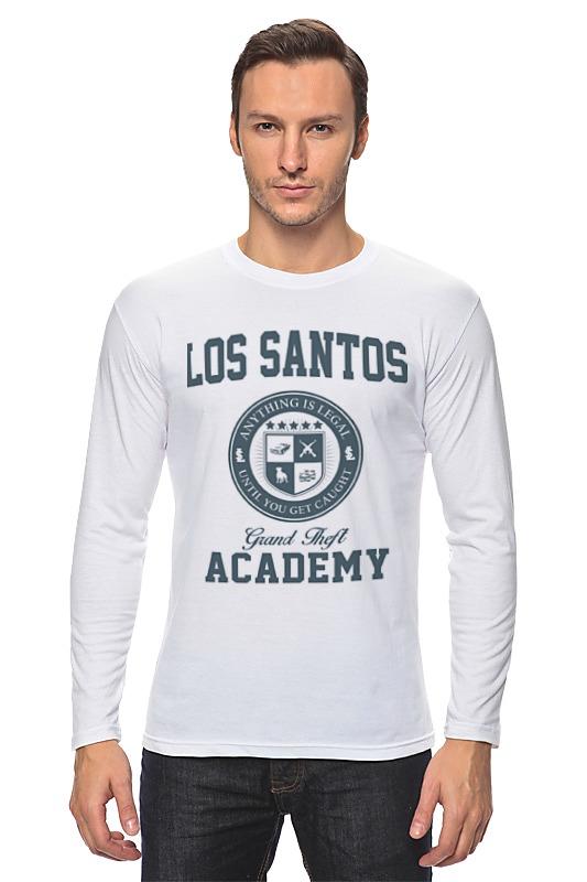 Лонгслив Printio Gta. los santos grand theft academy футболка wearcraft premium slim fit printio gta los santos grand theft academy