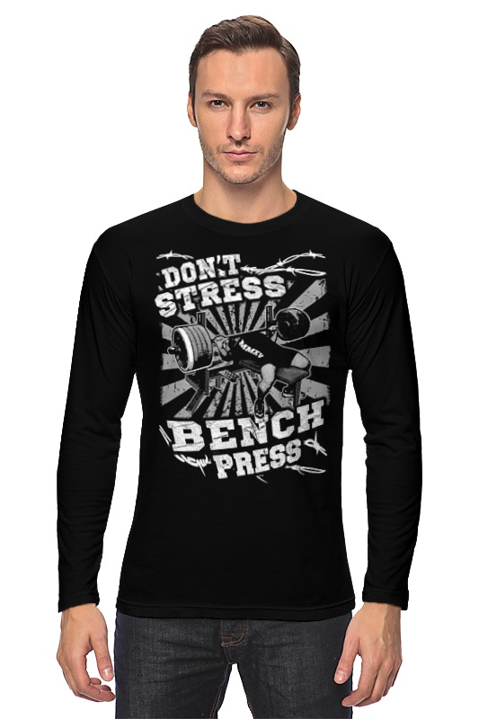 Лонгслив Printio Bench press цена и фото