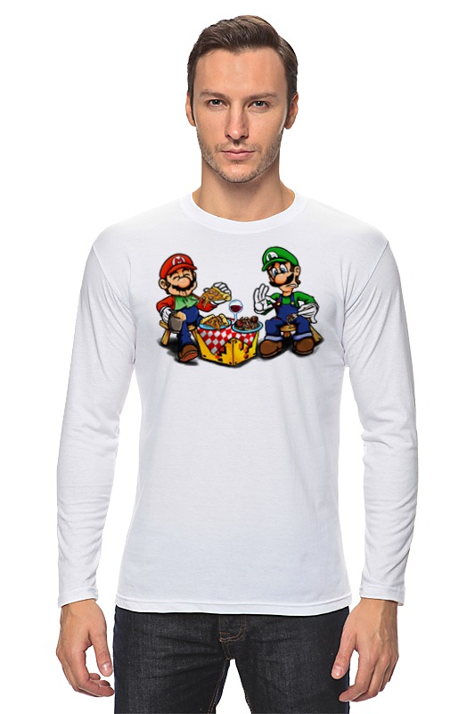 Лонгслив Printio Mario&luigi шарф luhta luhta lu692gmmzk82