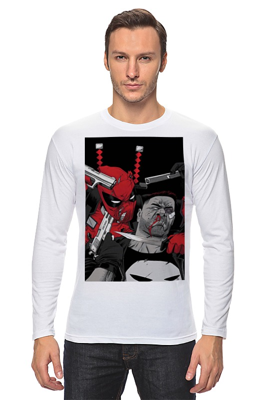 Лонгслив Printio Deadpool vs punisher плакат a3 29 7x42 printio deadpool vs punisher