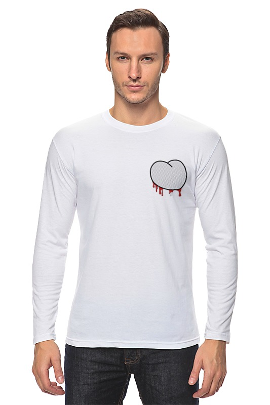 Лонгслив Printio Вырезанное сердце 2 лонгслив printio 62 2% в саратове