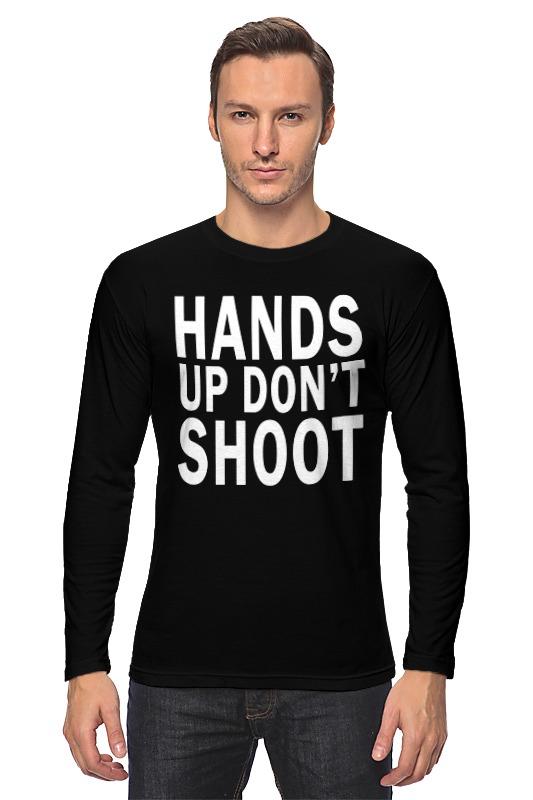Лонгслив Printio Hands up don't shoot (руки вверх не стрелять) руки вверх открой мне дверь dvd mp3