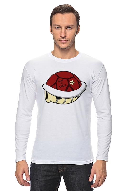 Лонгслив Printio Панцерь черепахи (марио) терариум для красноухой черепахи в королеве
