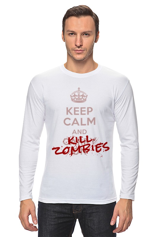 Лонгслив Printio Kill zombies