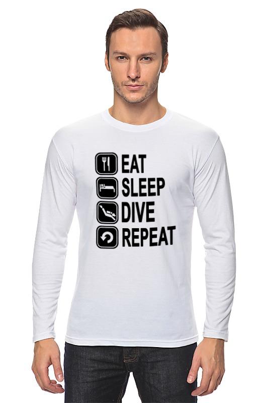 Лонгслив Printio Eat slep dive