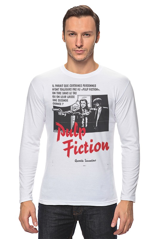 Лонгслив Printio Pulp fiction худи print bar pulp fiction