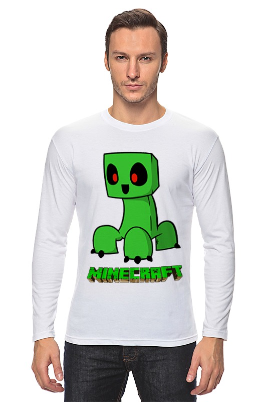 купить Лонгслив Printio Minecraft (майнкрафт) creeper (крипер) дешево