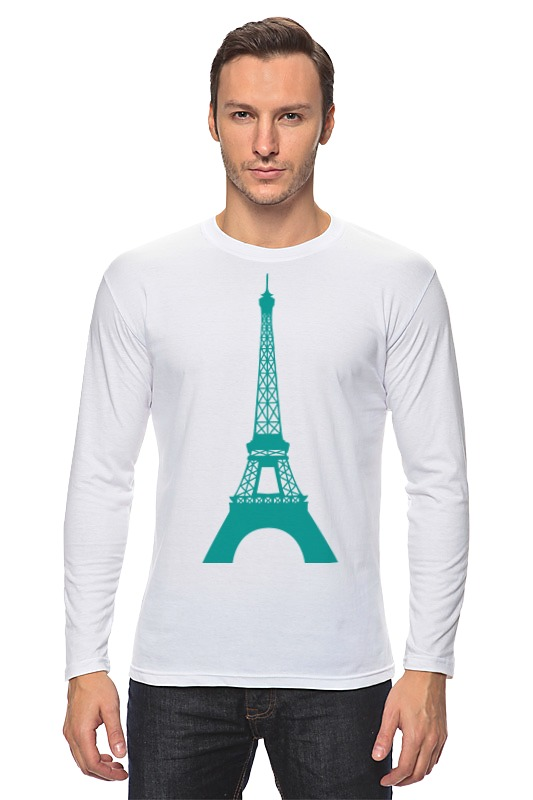 Лонгслив Printio Эйфелевая башня башня сова