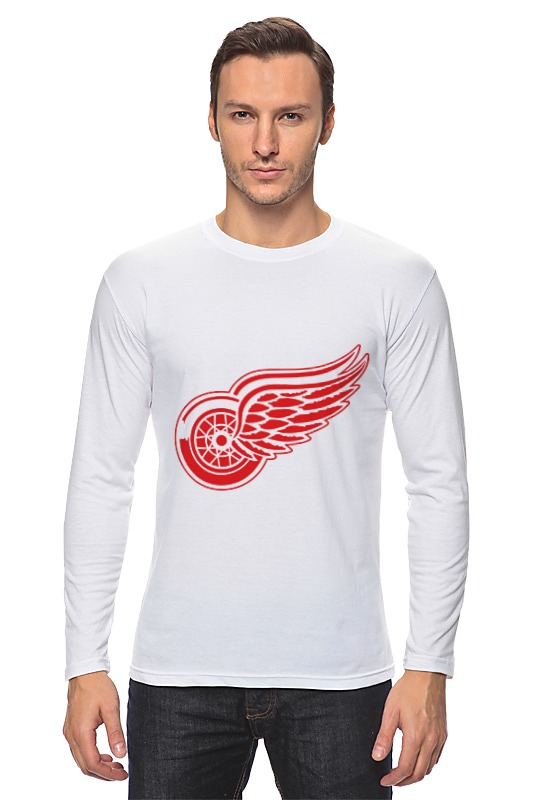 Лонгслив Printio Detroit red wings haunted castles