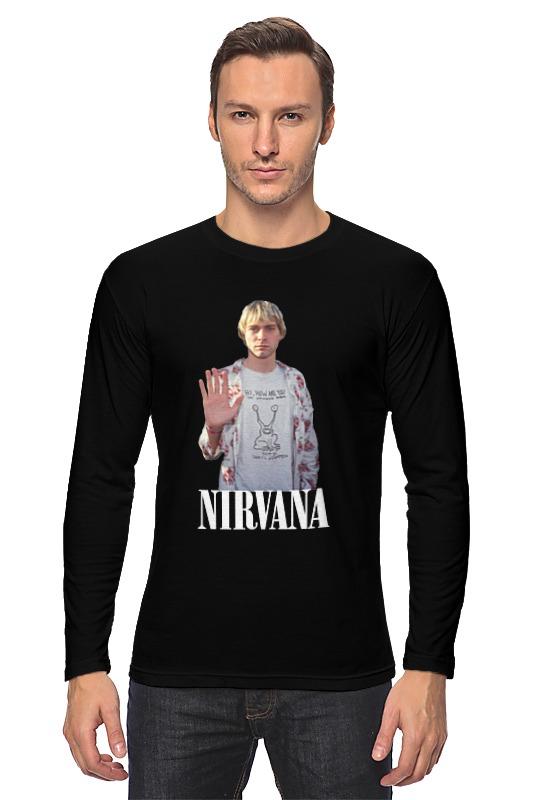 Лонгслив Printio Nirvana kurt cobain hello t-shirt tribal gear men s hello t shirt black